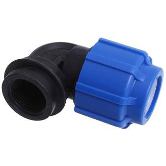 Отвод 50*1 1/2 с внутренней резьбой компрессионный пнд