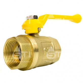 Кран 25 11Б27п1 шаровый муфтовый латунный для газа