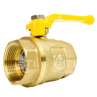 Кран 32 11Б27п1 шаровый муфтовый латунный для газа
