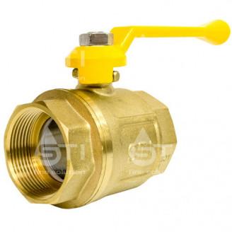 Кран 40 11Б27п1 шаровый муфтовый латунный для газа