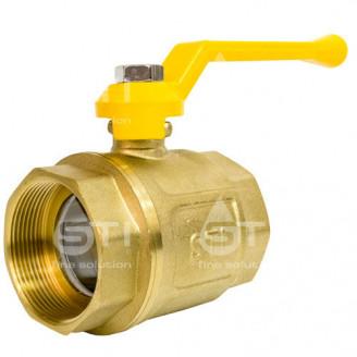 Кран 50 11Б27п1 шаровый муфтовый латунный для газа
