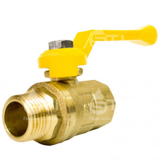 Кран 15 11Б27п1 вр нр шаровый муфтовый латунный для газа