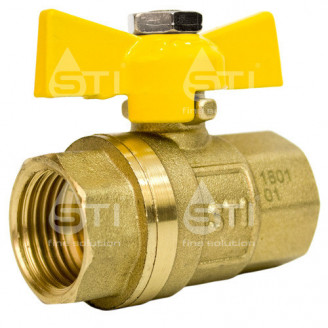 Кран 15 11Б27п1 вр вр шаровый муфтовый латунный для газа