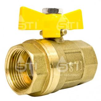 Кран 20 11Б27п1 вр вр шаровый муфтовый латунный для газа