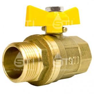 Кран 20 11Б27п1 вр нр шаровый муфтовый латунный для газа