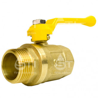Кран 32 11Б27п1 вр нр шаровый муфтовый латунный для газа