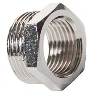 Футорка 3/4 х 1/2 нр вр латунная никелированная