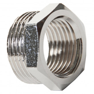 Футорка 1 1/4 х 3/4 нр вр латунная никелированная